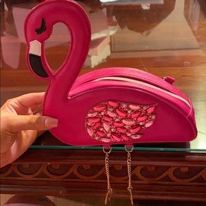 Betsy Johnson Flamingo purse